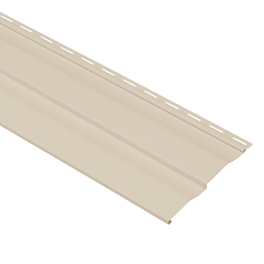 Georgia-Pacific Vinyl Siding Shadow Ridge 8-in x 150-in Beige and Wood Grain Double 4 Dutch Lap Vinyl Siding Panel