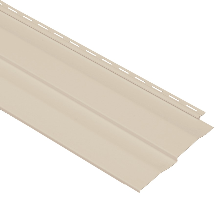 Georgia-Pacific Vinyl Siding Shadow Ridge 10-in x 144-in Beige and Wood Grain Double 5 Dutch Lap Vinyl Siding Panel