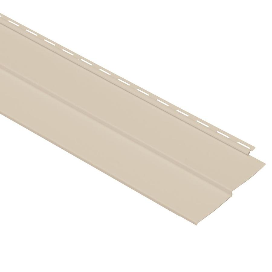 Georgia-Pacific Vinyl Siding Vision Pro 8-in x 150-in Beige Wood Grain Double 4 Traditional Vinyl Siding Panel