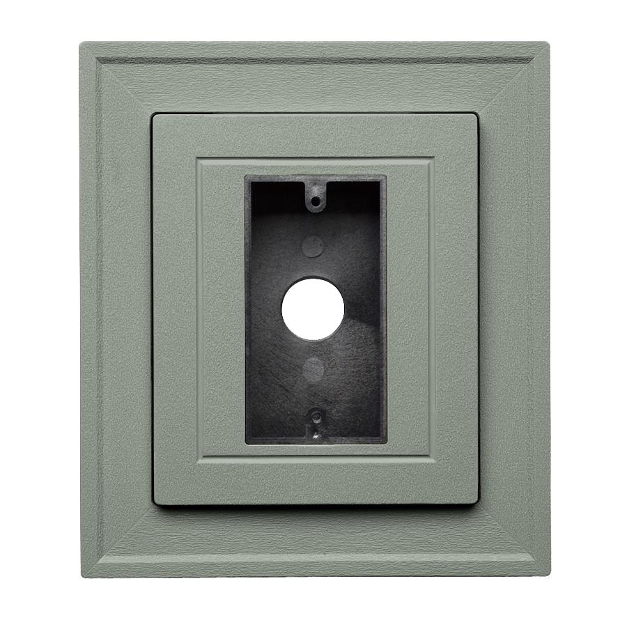 8.5-in x 7.5-in Sagebrook Vinyl Electrical Mounting Block