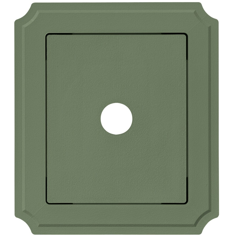 8.54-in x 7.52-in Palm Vinyl Universal Mounting Block