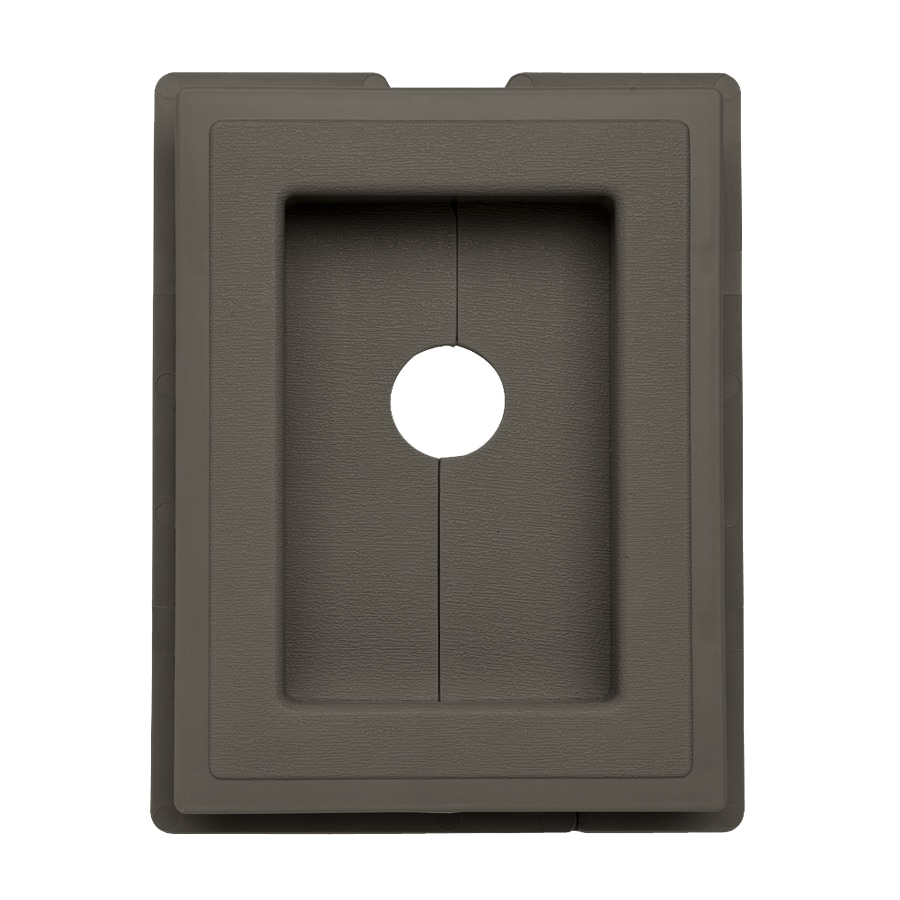 7.5-in x 1-in Shadow Vinyl Universal Mounting Block