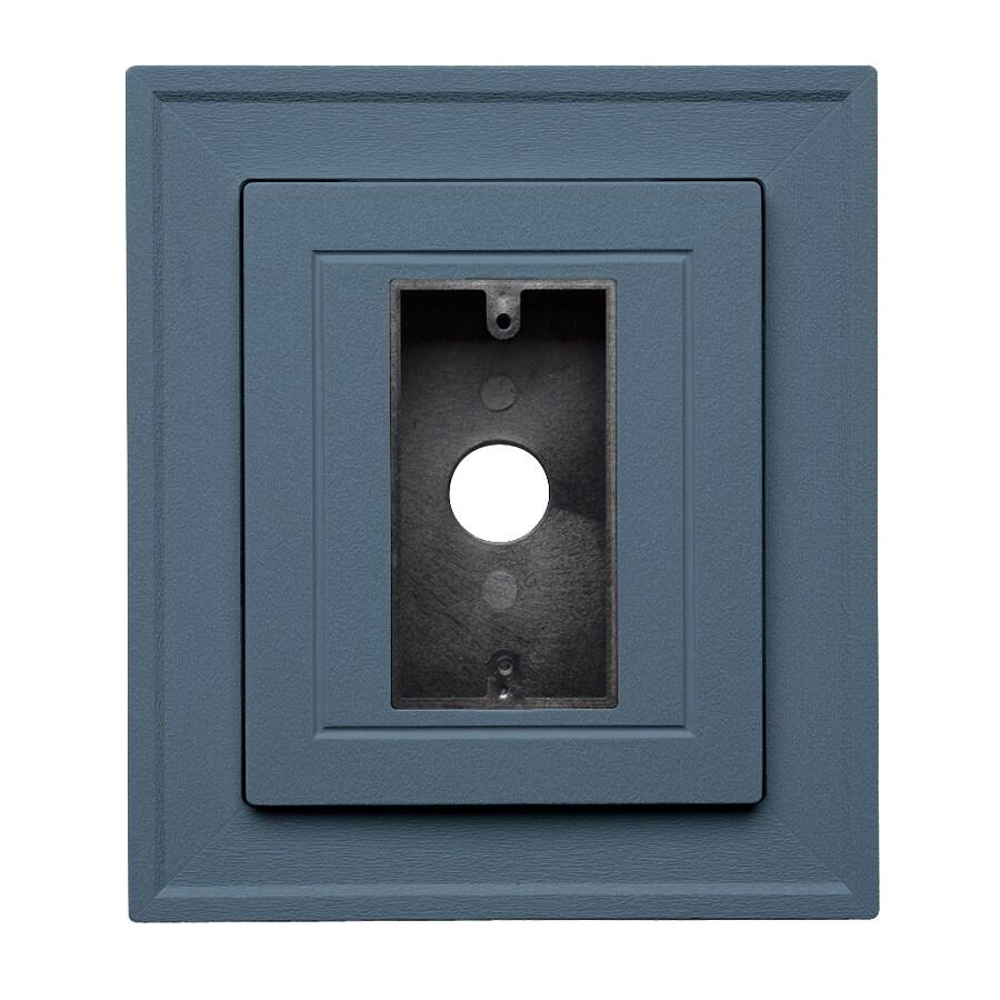 8.5-in x 7.5-in Bayou Vinyl Electrical Mounting Block