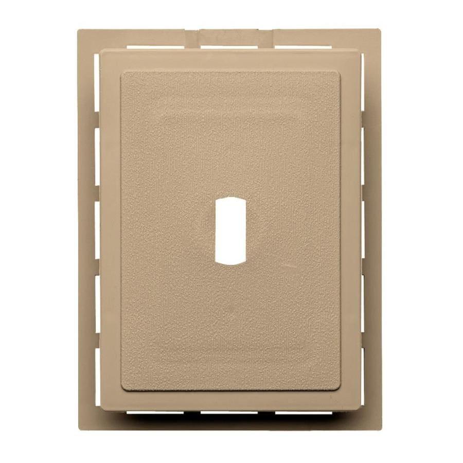 6-in x 0.875-in Hazelnut Vinyl Universal Mounting Block
