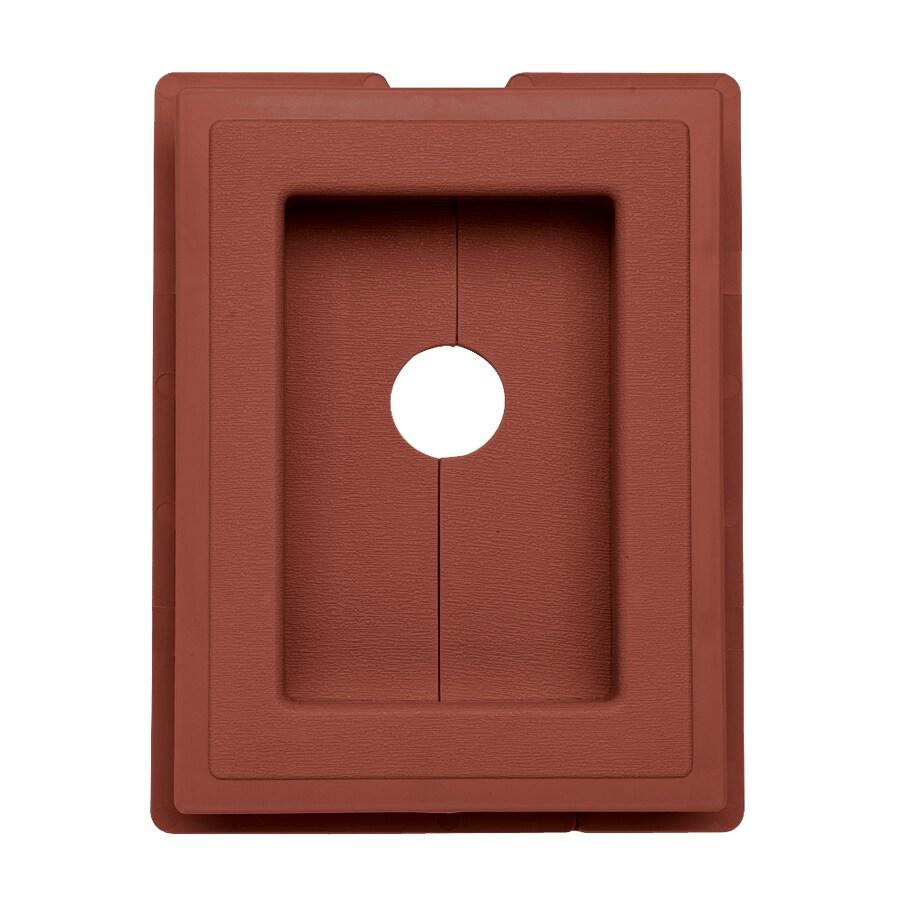 7.5-in x 1-in Hampton Red Vinyl Universal Mounting Block