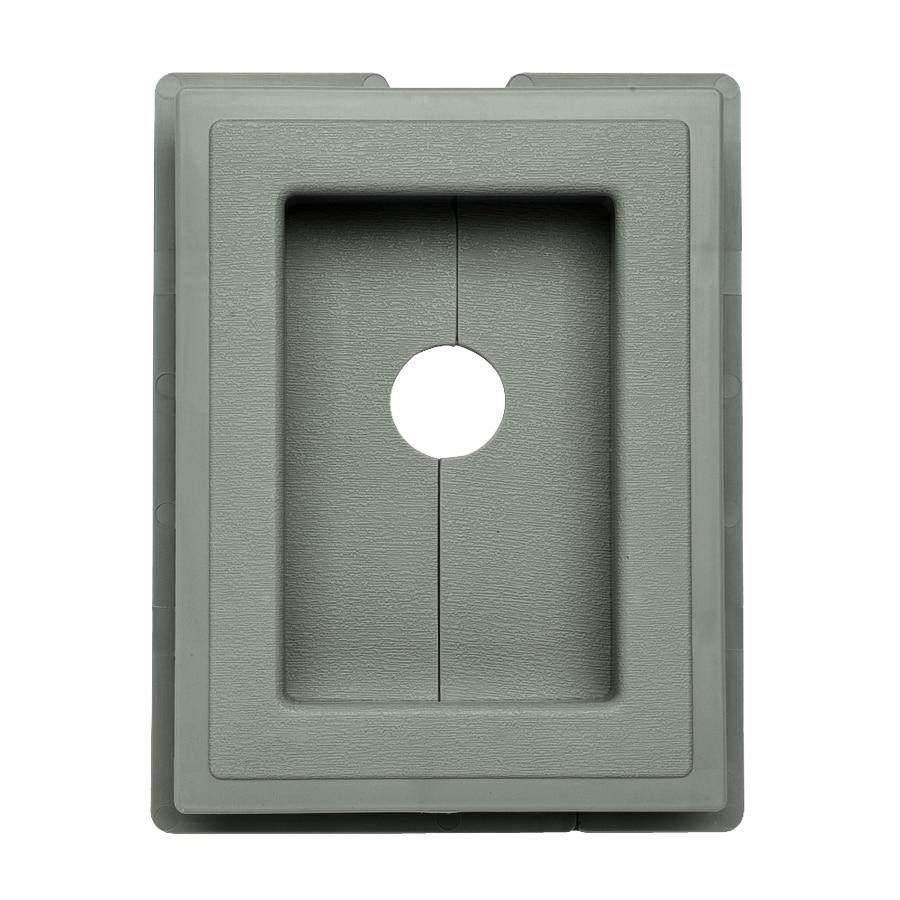 7.5-in x 1-in Sagebrook Vinyl Universal Mounting Block