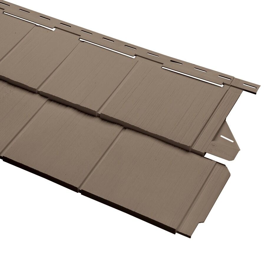 Cedar Spectrum 15.5-in x 54.625-in Teak and Wood Grain Perfection Shake Vinyl Siding Panel