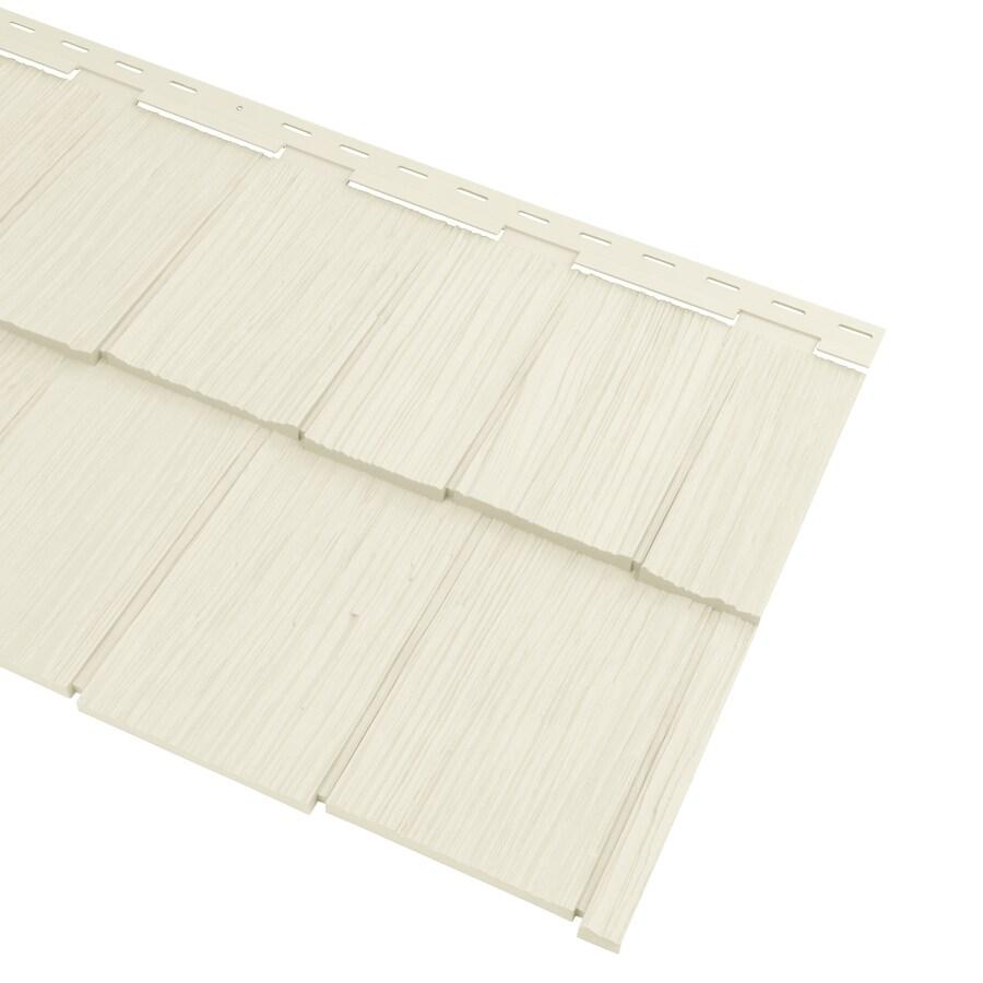 Georgia-Pacific Vinyl Siding Cedar Spectrum 20.375-in x 57.5-in Cream/Wood Grain Hand-Split Shake Vinyl Siding Panel