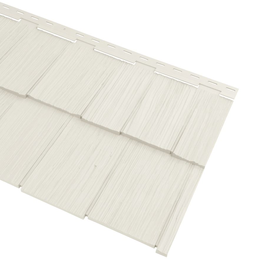 Georgia-Pacific Vinyl Siding Cedar Spectrum 20.375-in x 57.5-in Pearl Wood Grain Hand-Split Shake Vinyl Siding Panel