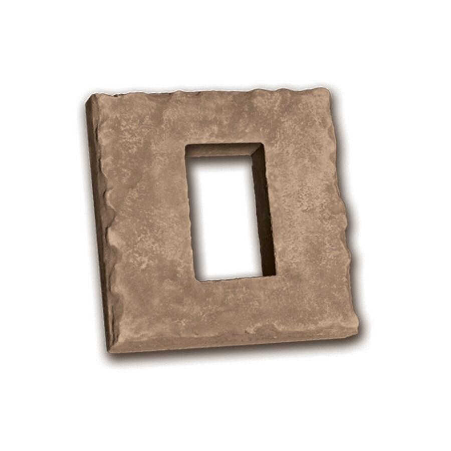 Ply Gem Stone 2-in x 8-in Brown Receptacle Boxes Stone Veneer Trim