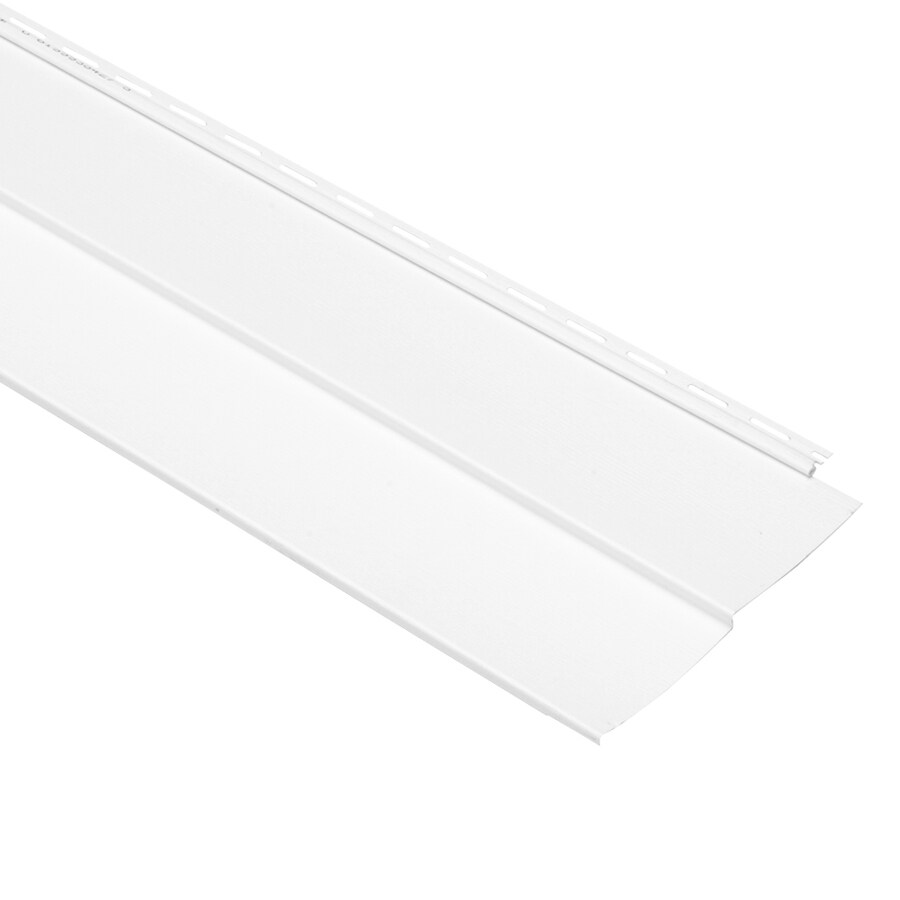 Georgia-Pacific Vinyl Siding Vision Pro White Wood Grain Double 5 Traditional Vinyl Siding Sample