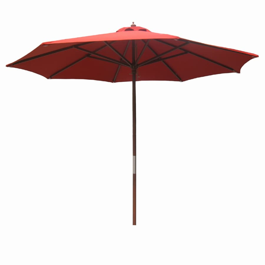 """Garden Treasures 7'6"""" Red Round Patio Umbrella"""