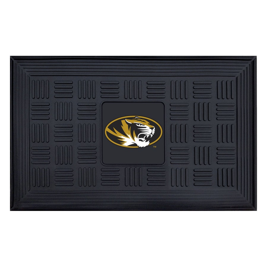 FANMATS Black with Official Team Logos and Colors University Of Missouri Rectangular Door Mat (Common: 19-in x 30-in; Actual: 19-in x 30-in)