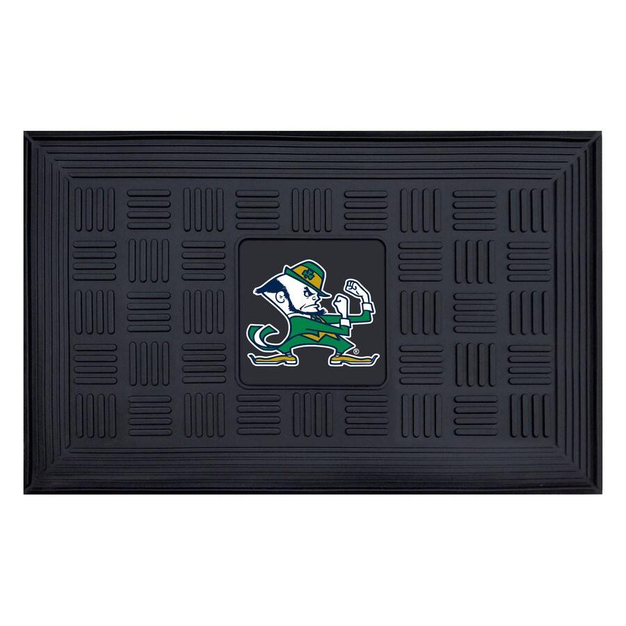 FANMATS Black Notre Dame Rectangular Door Mat (Common: 19-in x 30-in; Actual: 19-in x 30-in)
