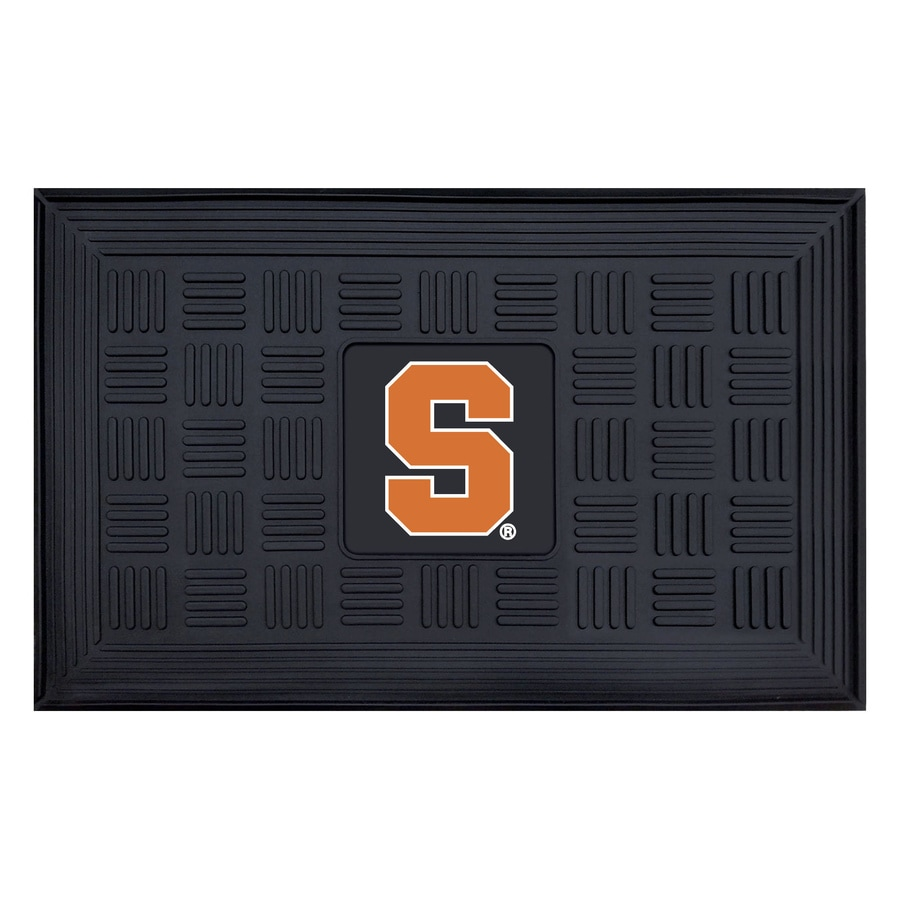 FANMATS Black Syracuse University Rectangular Door Mat (Common: 19-in x 30-in; Actual: 19-in x 30-in)