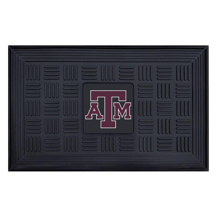 FANMATS Black Texas A&M University Rectangular Door Mat (Common: 19-in x 30-in; Actual: 19-in x 30-in)
