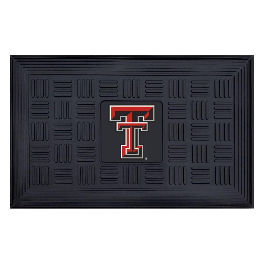 FANMATS Black Texas Tech University Rectangular Door Mat (Common: 19-in x 30-in; Actual: 19-in x 30-in)