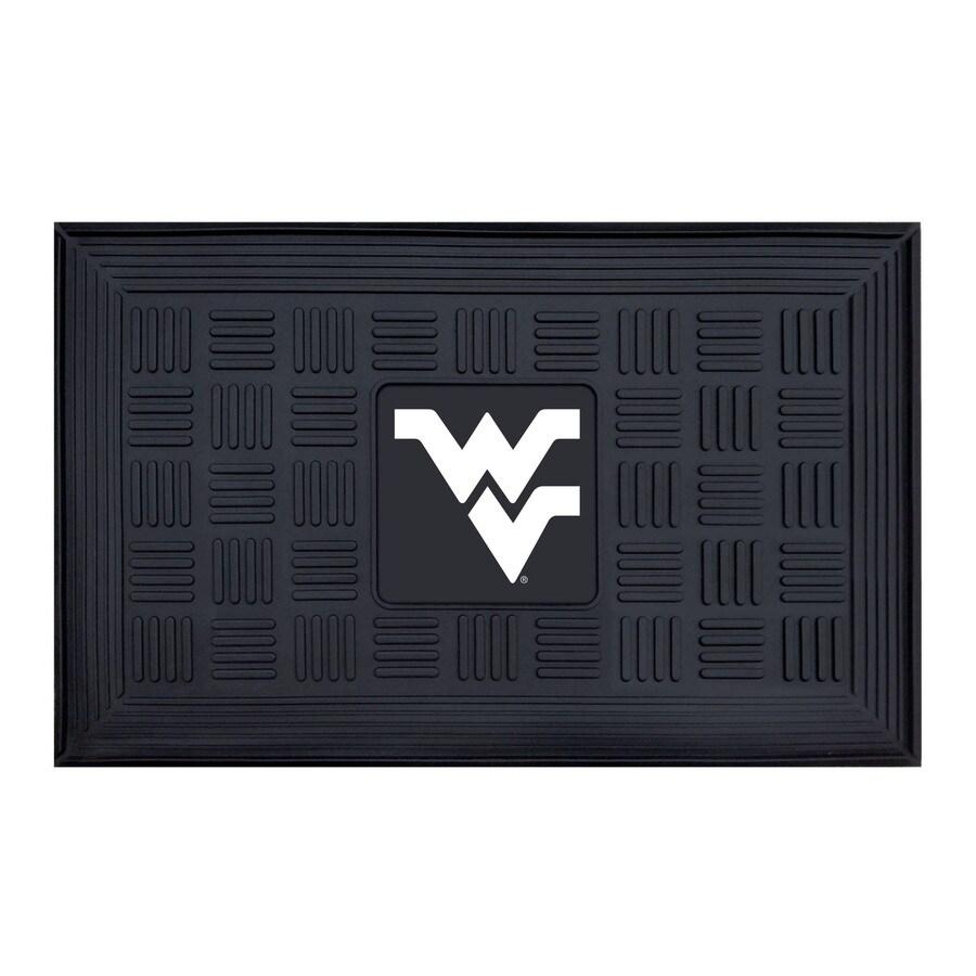 FANMATS Black West Virginia University Rectangular Door Mat (Common: 19-in x 30-in; Actual: 19-in x 30-in)