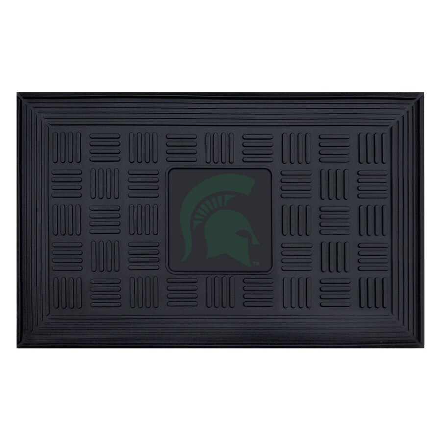 FANMATS Black Michigan State University Rectangular Door Mat (Common: 19-in x 30-in; Actual: 19-in x 30-in)