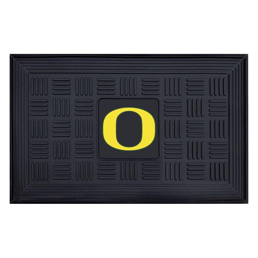 FANMATS Black University Of Oregon Rectangular Door Mat (Common: 19-in x 30-in; Actual: 19-in x 30-in)