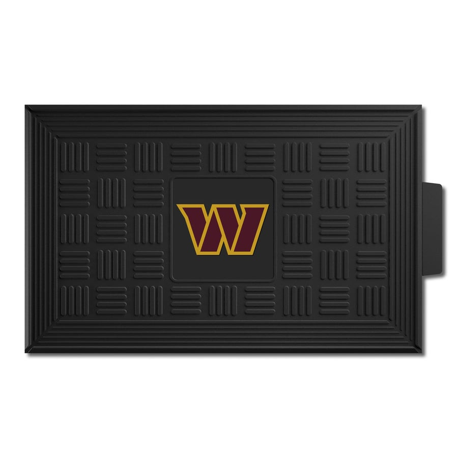 FANMATS Black with Official Team Logos and Colors Washington Redskins Rectangular Door Mat (Common: 19-in x 30-in; Actual: 19-in x 30-in)