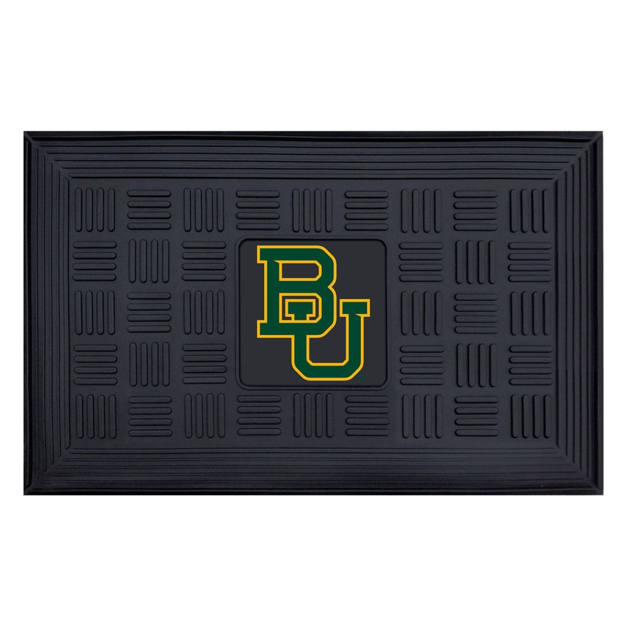 FANMATS Black with Official Team Logos and Colors Baylor Bears Rectangular Door Mat (Common: 19-in x 30-in; Actual: 19-in x 30-in)