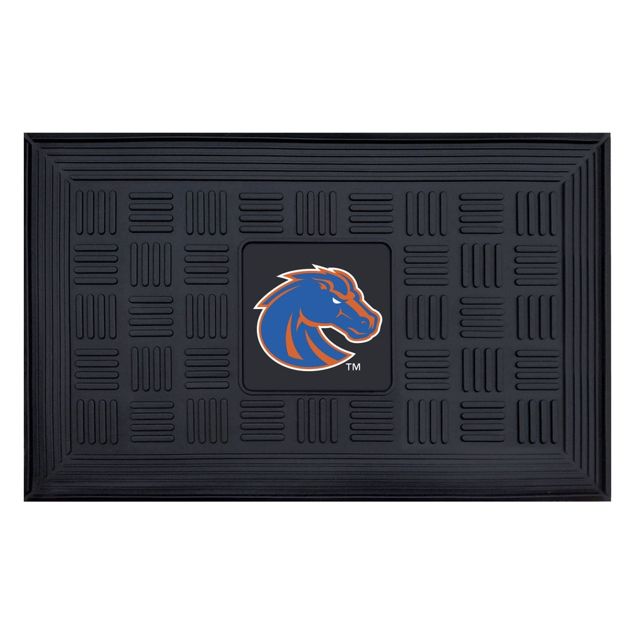 FANMATS Black with Official Team Logos and Colors Boise State University Rectangular Door Mat (Common: 19-in x 30-in; Actual: 19-in x 30-in)