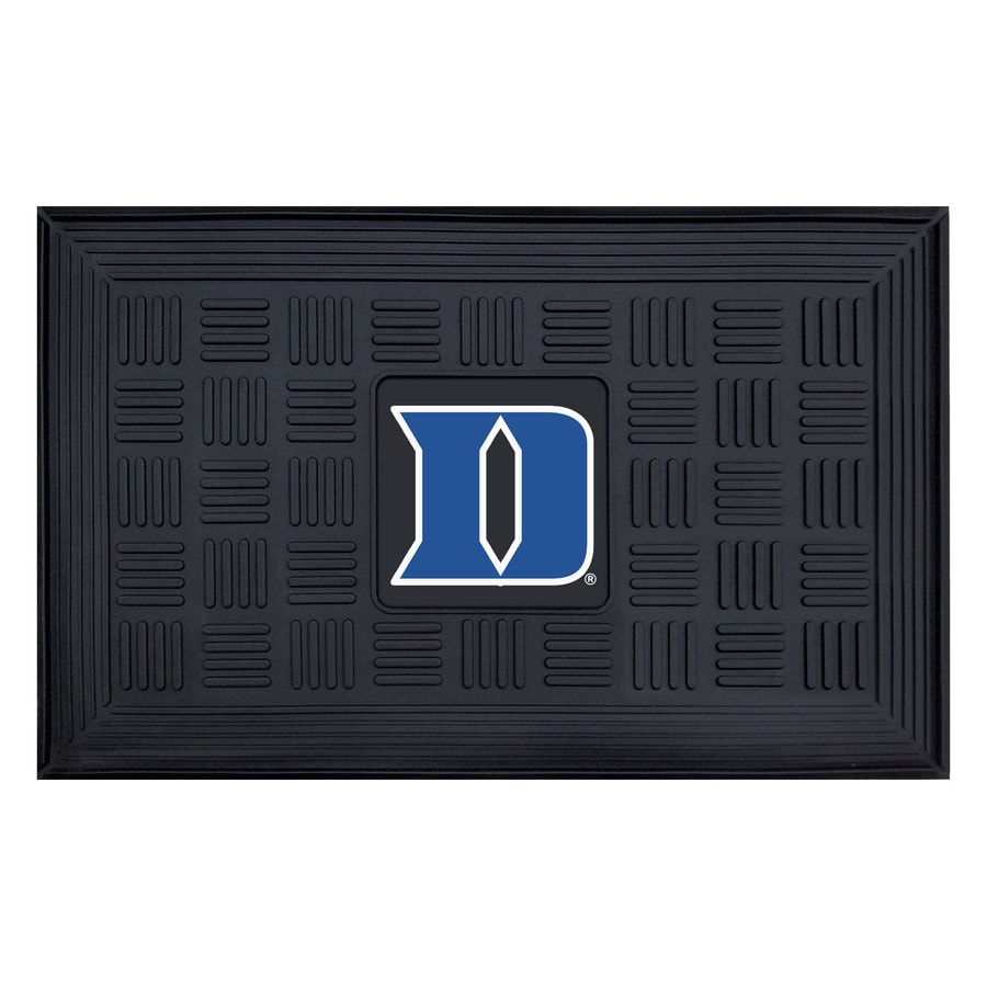 FANMATS Black with Official Team Logos and Colors Duke University Rectangular Door Mat (Common: 19-in x 30-in; Actual: 19-in x 30-in)
