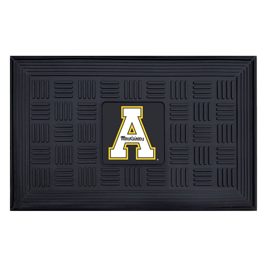 FANMATS Black with Official Team Logos and Colors Appalachian State Rectangular Door Mat (Common: 19-in x 30-in; Actual: 19-in x 30-in)