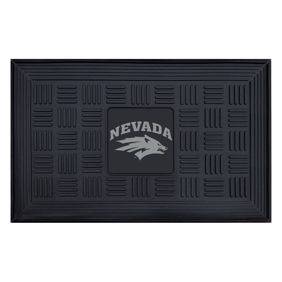 FANMATS Black with Official Team Logos and Colors University Of Nevada Rectangular Door Mat (Common: 19-in x 30-in; Actual: 19-in x 30-in)