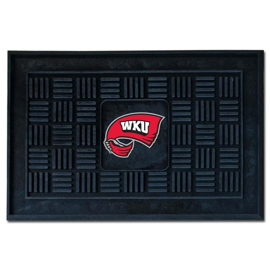 FANMATS Black with Official Team Logos and Colors Western Kentucky University Rectangular Door Mat (Common: 19-in x 30-in; Actual: 19-in x 30-in)