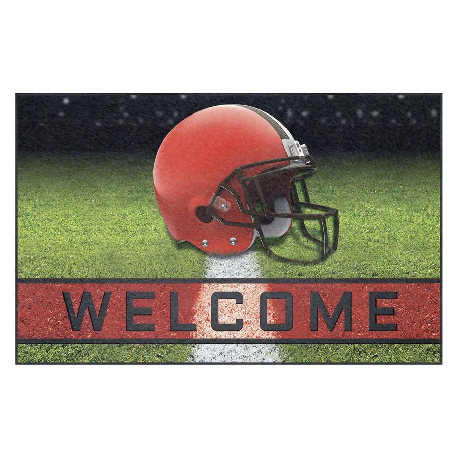 FANMATS Multicolor Cleveland Browns Rectangular Door Mat (Common: 18-in x 30-in; Actual: 18-in x 30-in)