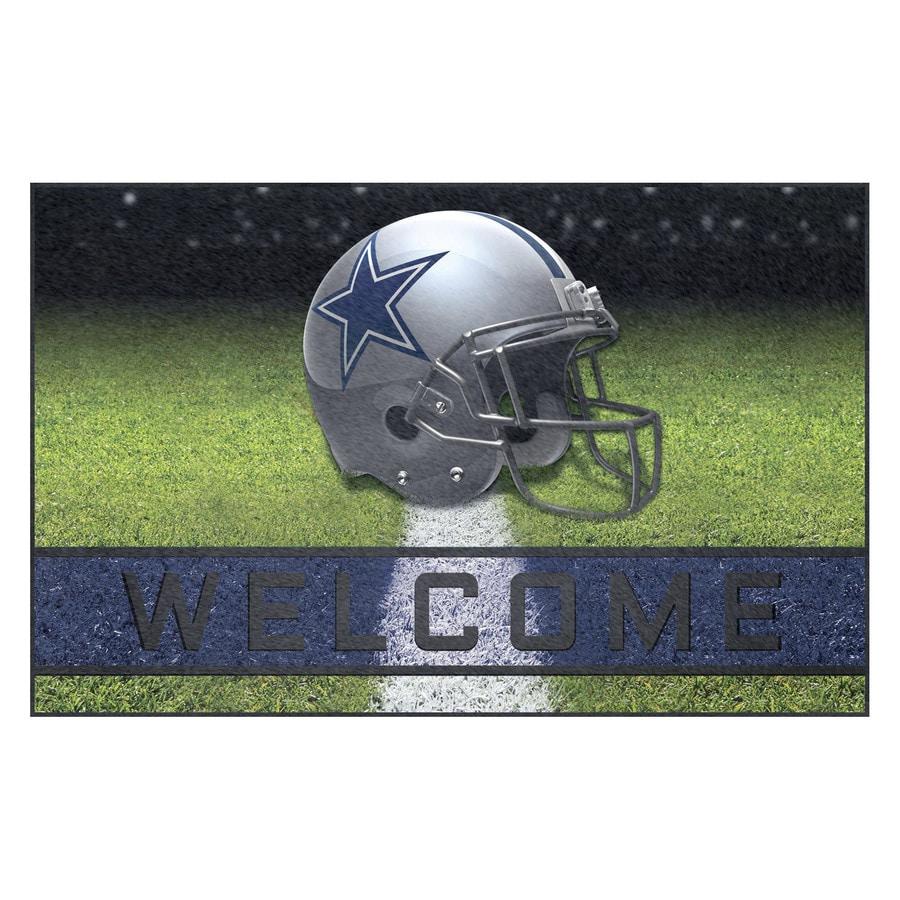 FANMATS Multicolor Dallas Cowboys Rectangular Door Mat (Common: 18-in x 30-in; Actual: 18-in x 30-in)