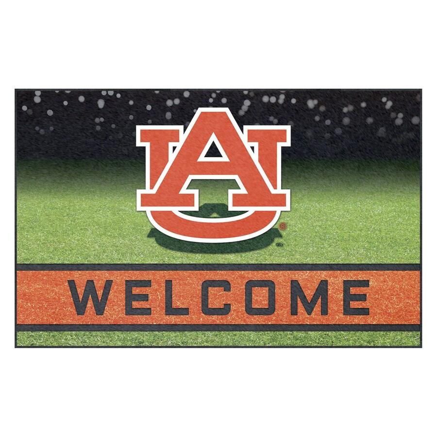 FANMATS Multicolor Auburn University Rectangular Door Mat (Common: 18-in x 30-in; Actual: 18-in x 30-in)