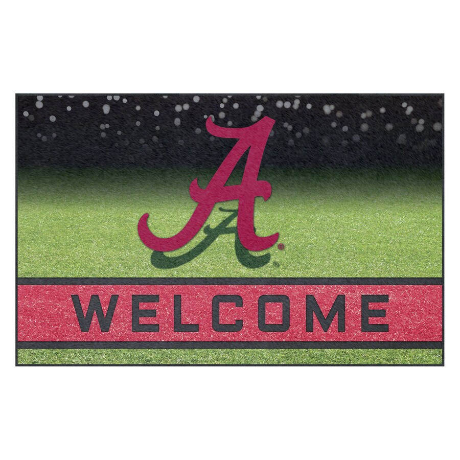 FANMATS Multicolor University of Alabama Rectangular Door Mat (Common: 18-in x 30-in; Actual: 18-in x 30-in)