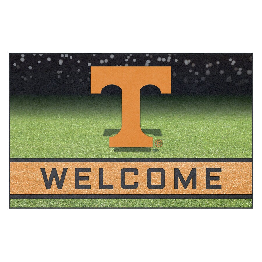 FANMATS Multicolor University of Tennessee Rectangular Door Mat (Common: 18-in x 30-in; Actual: 18-in x 30-in)