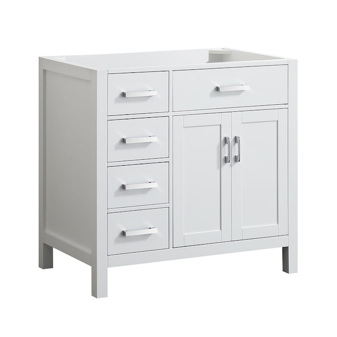 Beaumont Decor Hampton 36 In White Bathroom Vanity Cabinet In The Bathroom Vanities Without Tops Department At Lowes Com