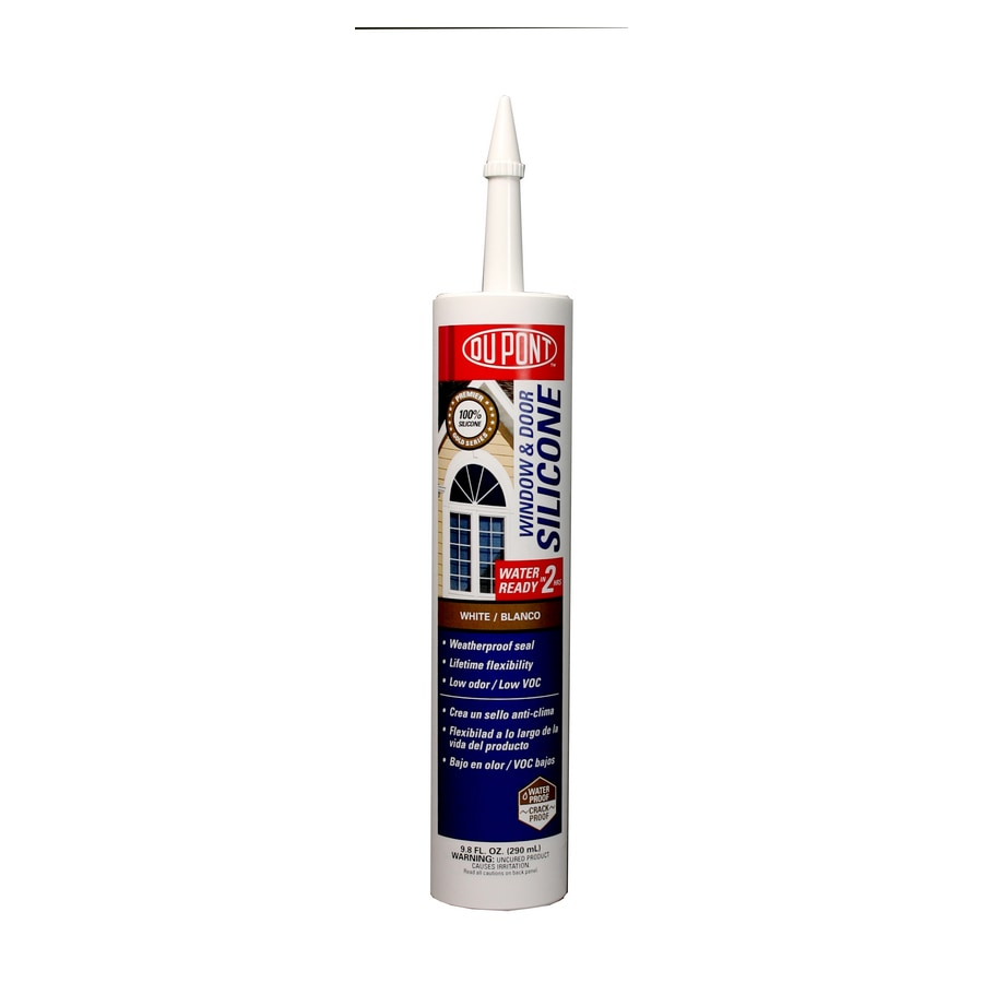 DuPont 9.8-oz White Silicone Window and Door Caulk