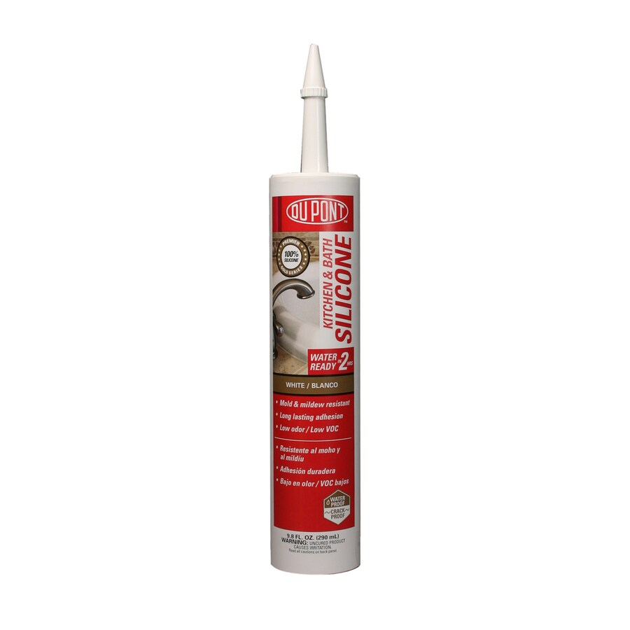 DuPont White Silicone Kitchen and Bathroom Caulk