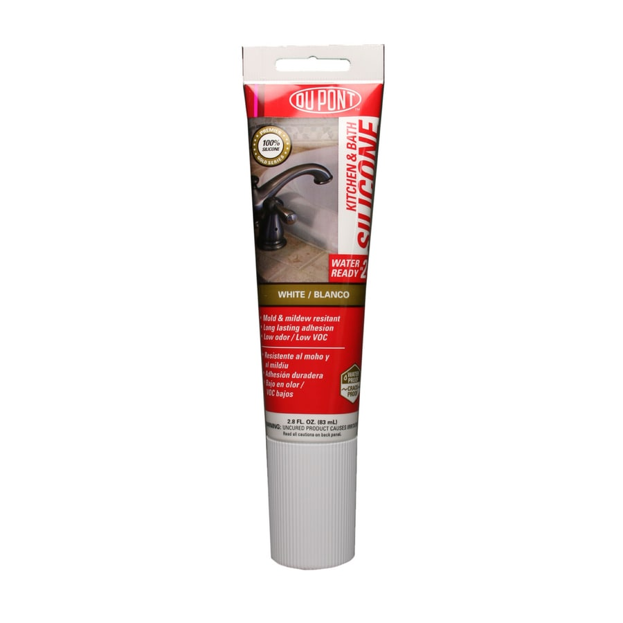 DuPont 2.8-oz White Silicone Kitchen and Bathroom Caulk
