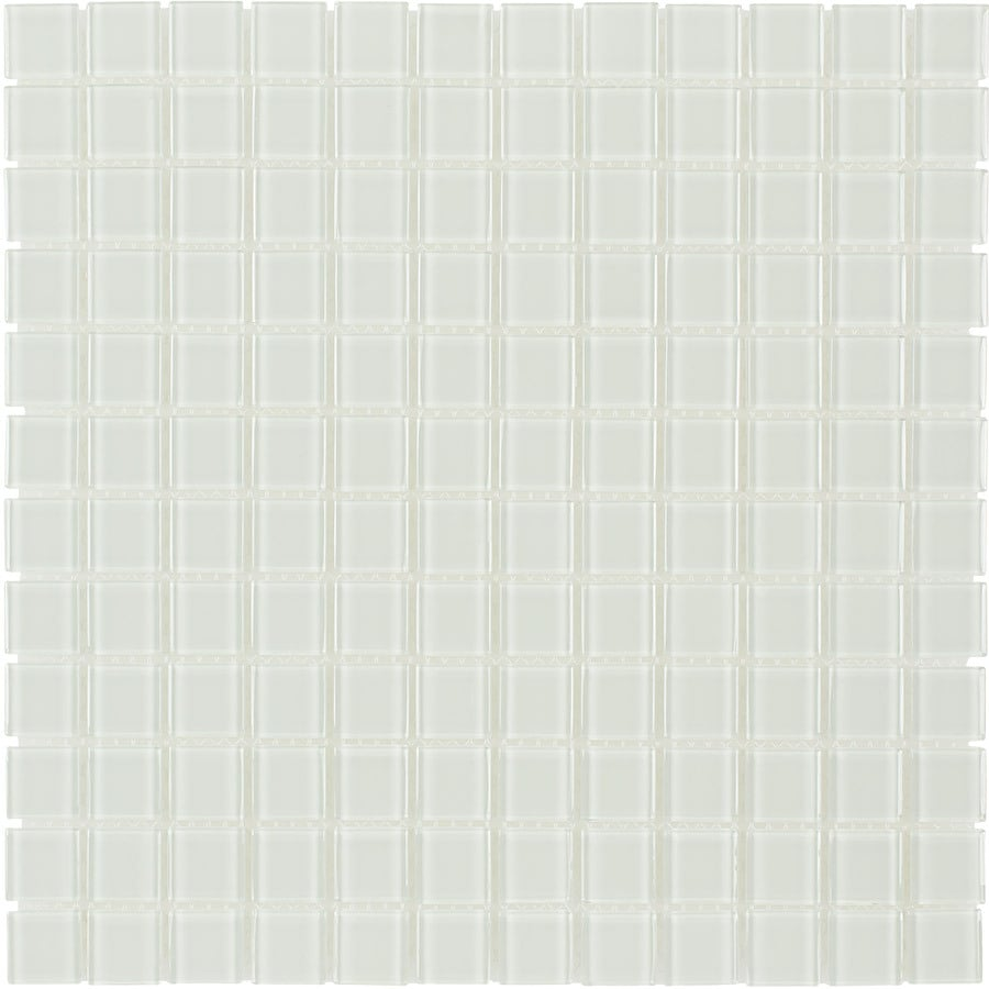 Elida Ceramica Clear Uniform Squares Mosaic Glass Wall Tile (Common: 12-in x 12-in; Actual: 11.75-in x 11.75-in)