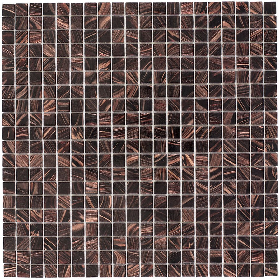 Elida Ceramica Expresso Uniform Squares Mosaic Glass Wall Tile (Common: 13-in x 13-in; Actual: 12.75-in x 12.75-in)