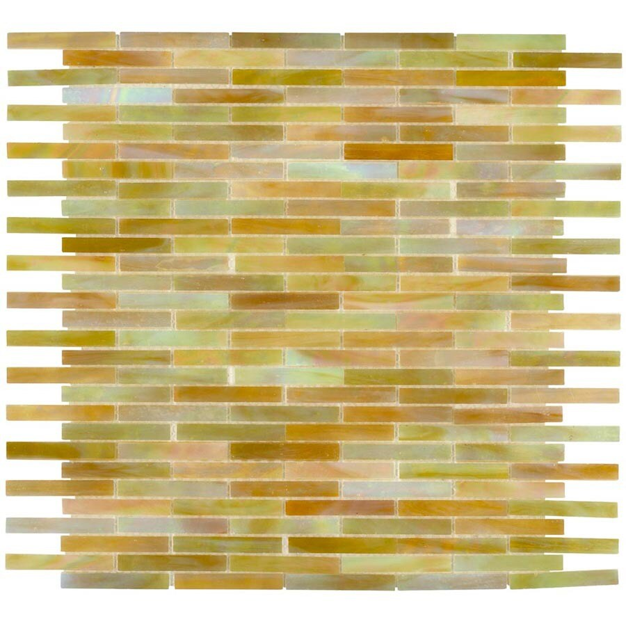 Elida Ceramica Glass Mosaic Onyx Brick Glass Mosaic  Wall Tile (Common: 13-in x 14-in; Actual: 11.75-in x 12.75-in)