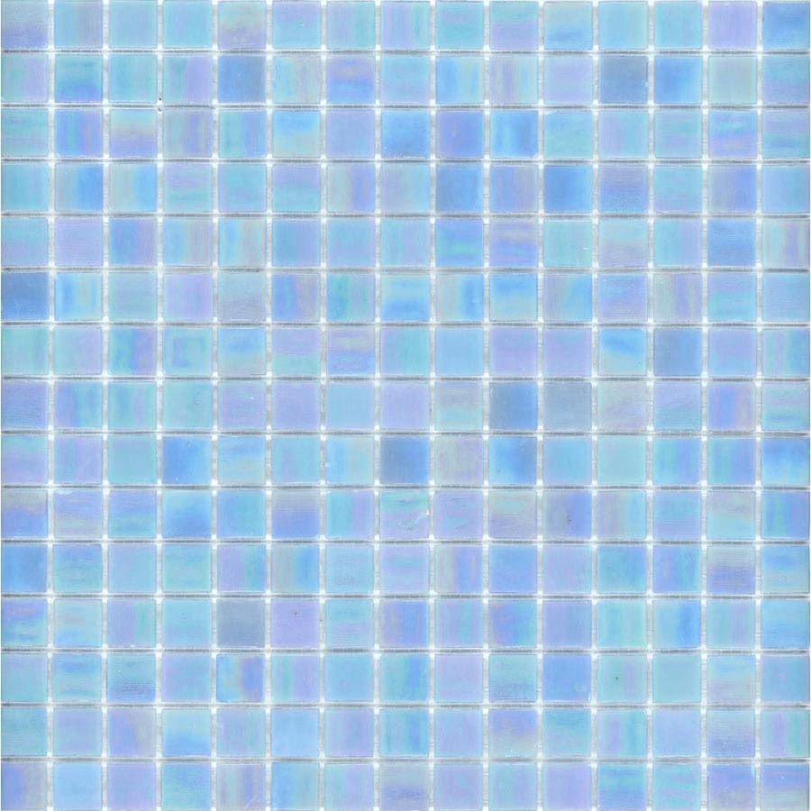 Elida Ceramica 13-in x 13-in Powder Blue Glass Mosaic Square Wall Tile