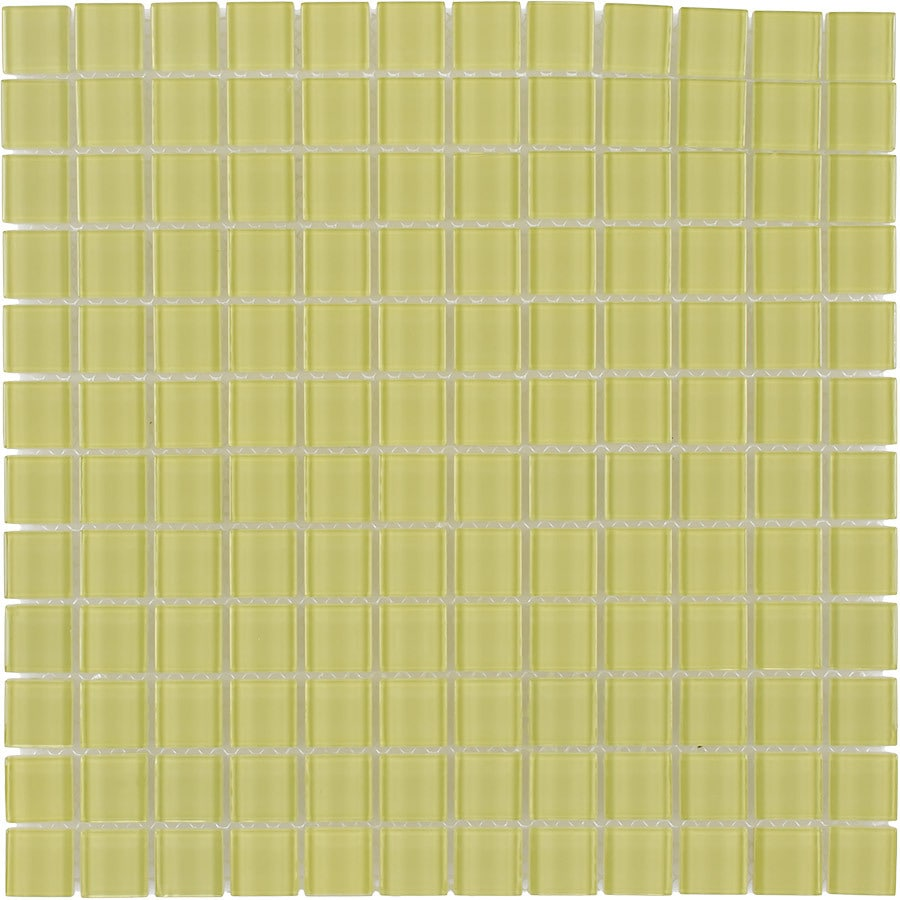 Elida Ceramica Marfil Uniform Squares Mosaic Glass Wall Tile (Common: 12-in x 12-in; Actual: 11.75-in x 11.75-in)