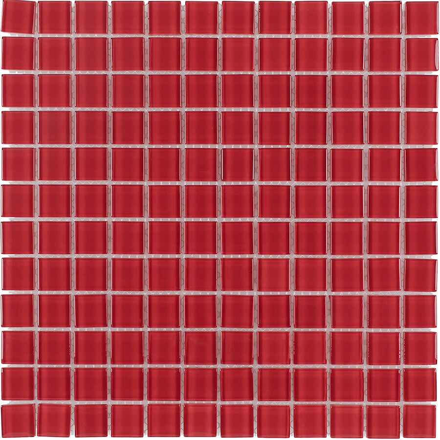 Elida Ceramica Flame Uniform Squares Mosaic Glass Wall Tile (Common: 12-in x 12-in; Actual: 11.75-in x 11.75-in)