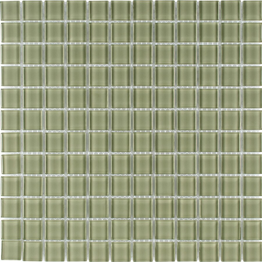 Elida Ceramica Willow Uniform Squares Mosaic Glass Wall Tile (Common: 12-in x 12-in; Actual: 11.75-in x 11.75-in)