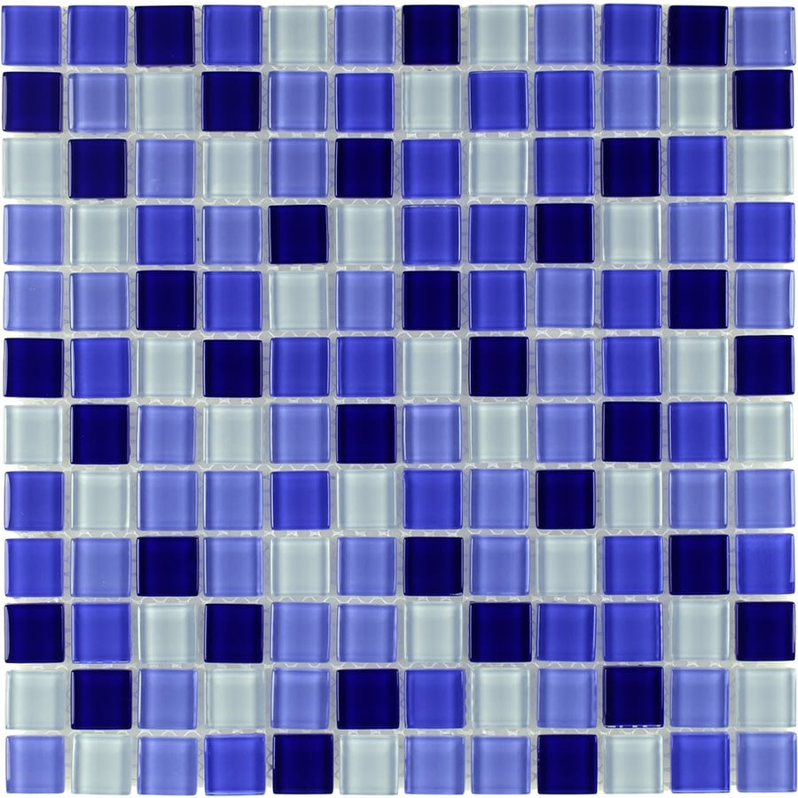 Elida Ceramica Cielo Uniform Squares Mosaic Glass Wall Tile (Common: 12-in x 12-in; Actual: 11.75-in x 11.75-in)