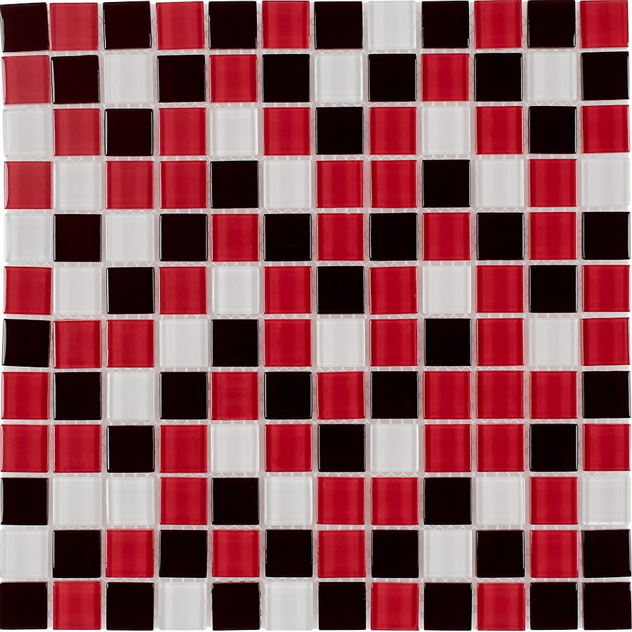 Elida Ceramica Beep Bop Love Uniform Squares Mosaic Glass Wall Tile (Common: 12-in x 12-in; Actual: 11.75-in x 11.75-in)