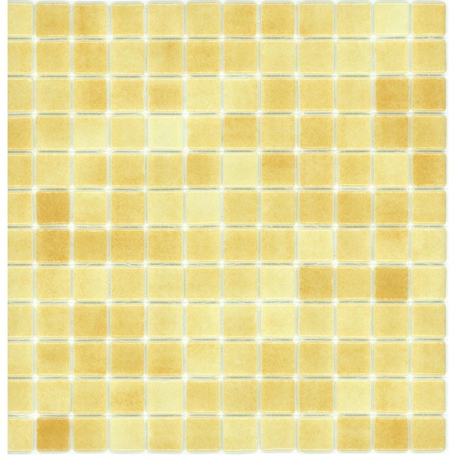 Elida Ceramica Recycled Peanut Butter Glass Mosaic Square Indoor/Outdoor Wall Tile (Common: 12-in x 12-in; Actual: 12.5-in x 12.5-in)